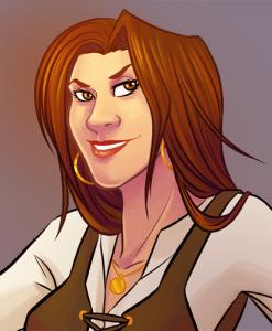 Female Character Portrait by Liz Coshow