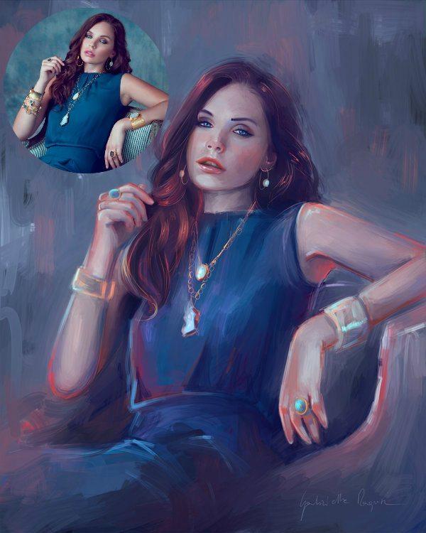 Impressionistic Portrait by Gabrielle Ragusi
