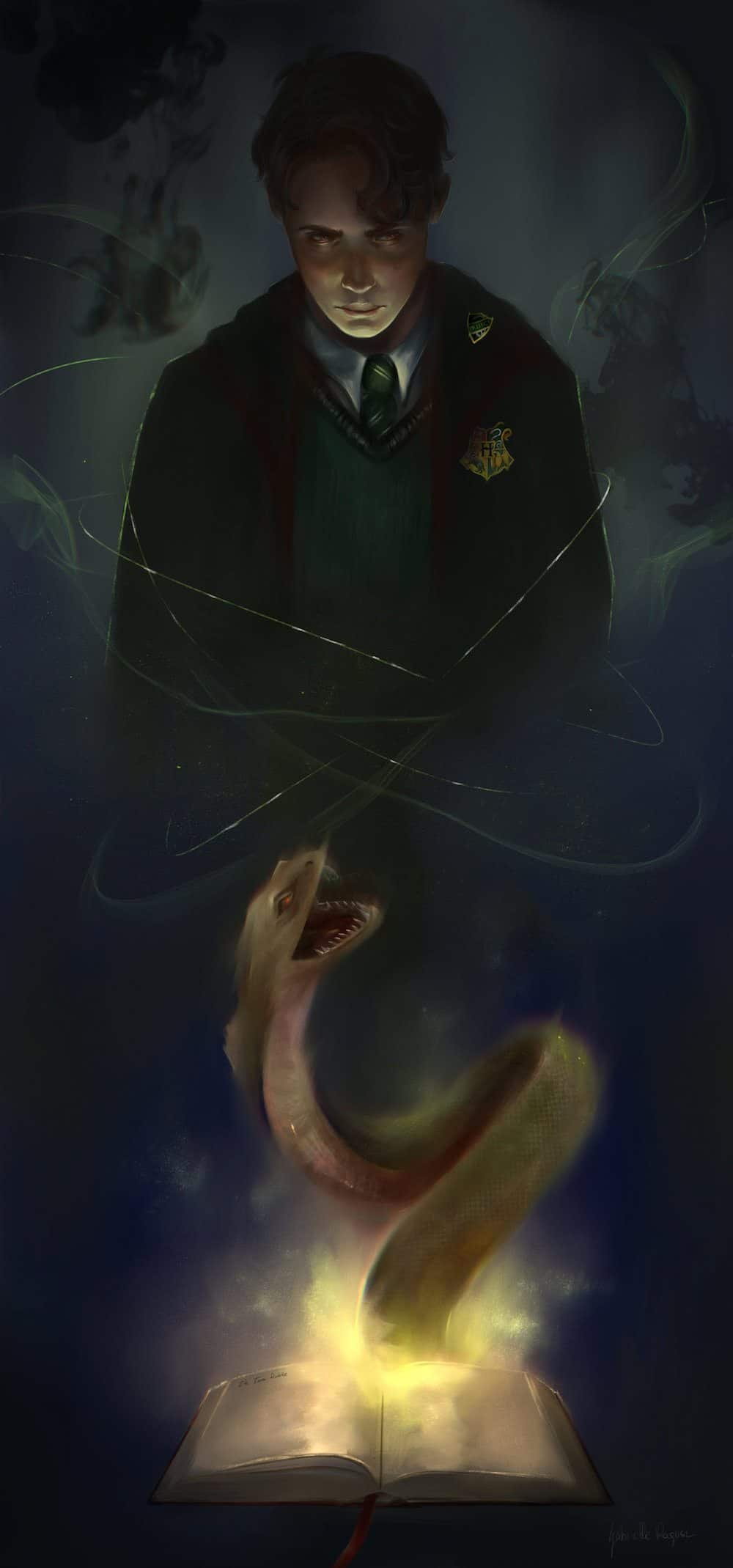Slytherin Fan Art by Gabrielle Ragusi