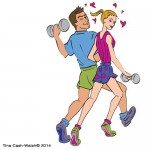 exercise couple by Tina Cash-Walsh