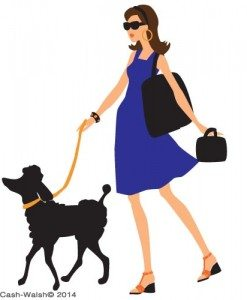 girl and poodle by Tina Cash-Walsh