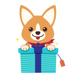 Gift ArtCorgi with Presents