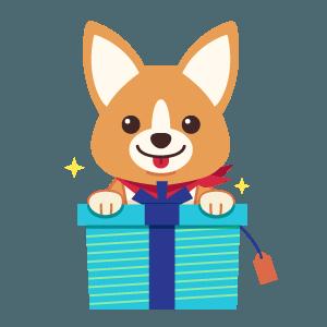 Gift ArtCorgi with Presents