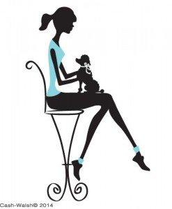 silo girl and dog by Tina Cash-Walsh