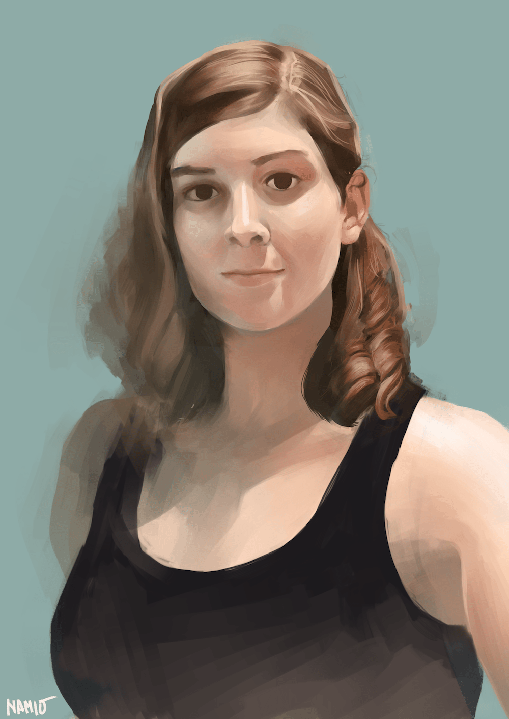 Digitally Painted Portrait of a woman by Namio