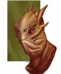 Lizard Man Portrait by Jimmy Yeung