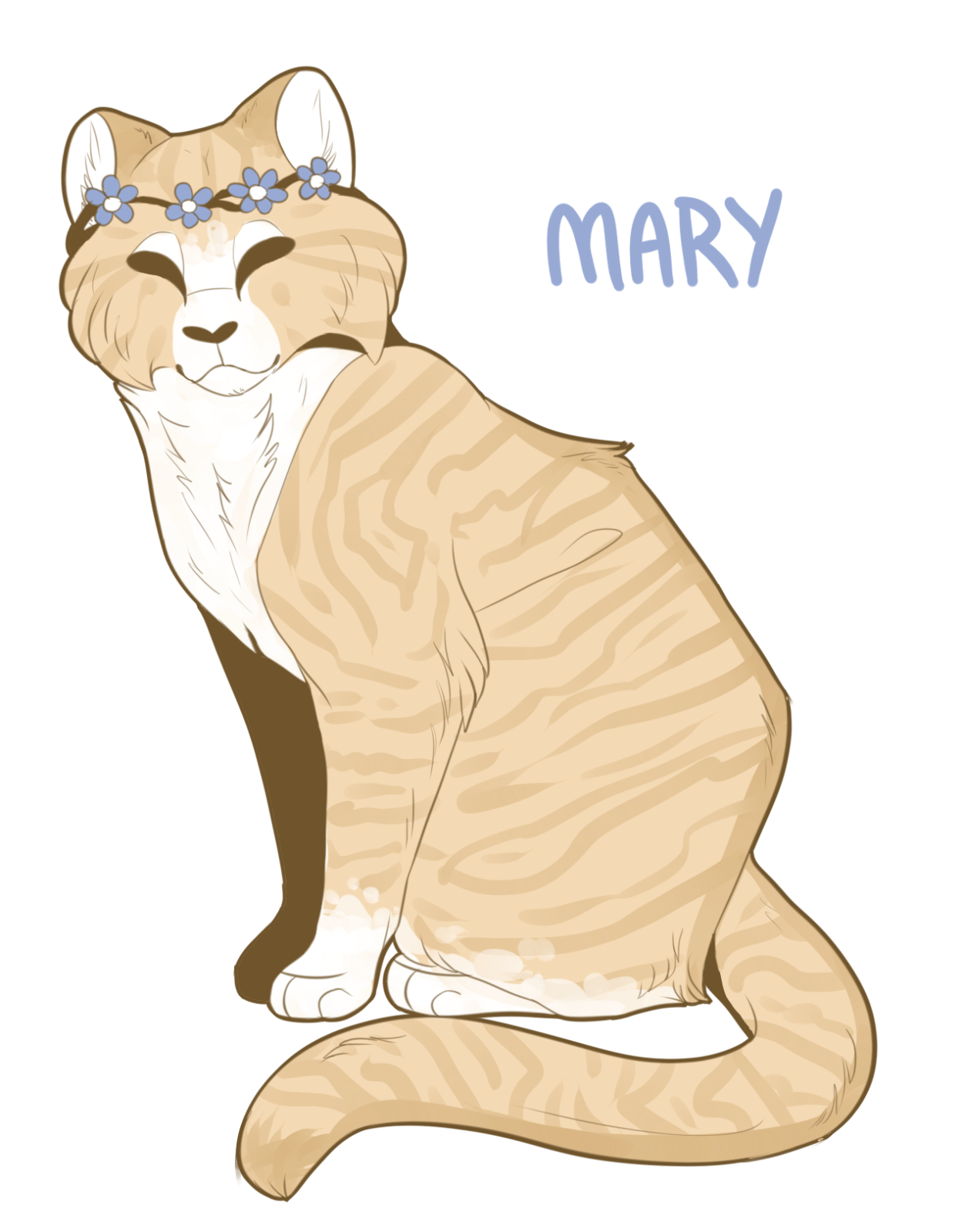 Portrait of Mary the Cat by Felined