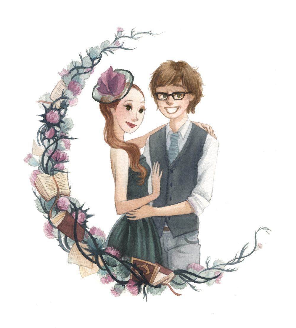 Simone and Malcolm Wedding Commission by Sumi