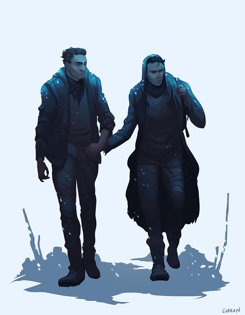 Two Men Digitally Painted by Railgunner