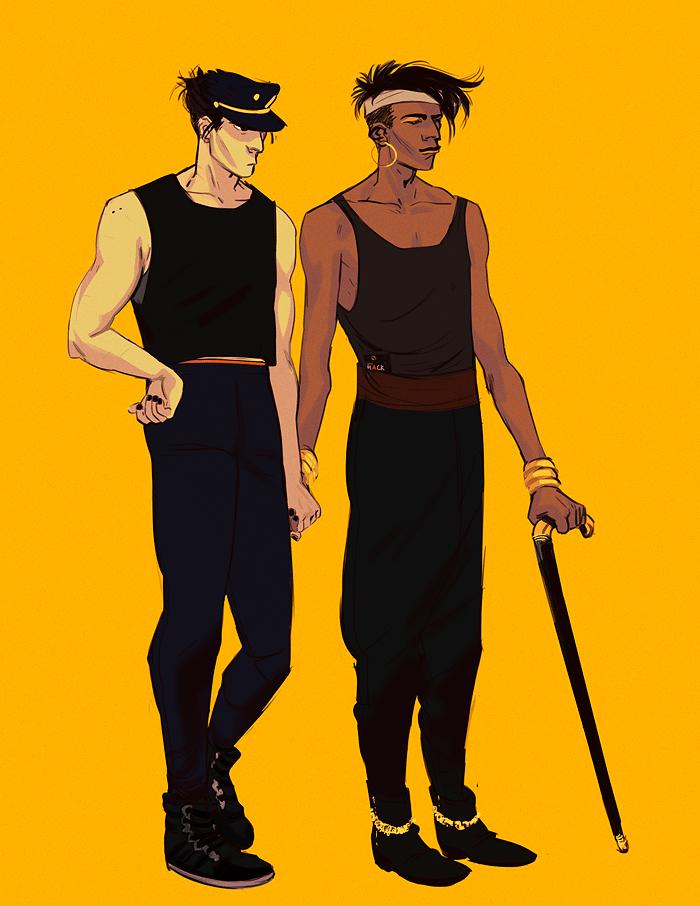 Two Men illustrated by Railgunner