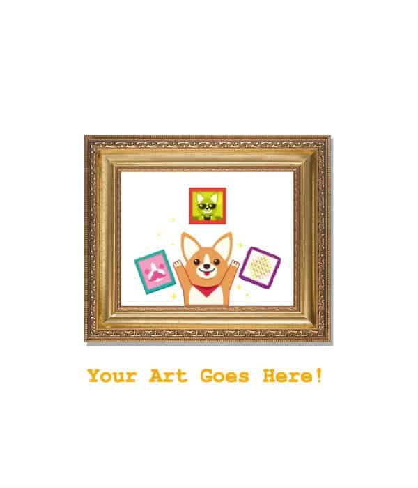 Fancy Gold Framed Prints - ArtCorgi - Commission Portraits, Pop Art ...
