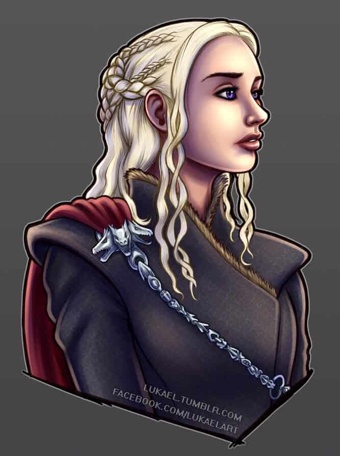 ArtCorgi portrait of Daenerys Targaryen from Game of Thrones by Lukael