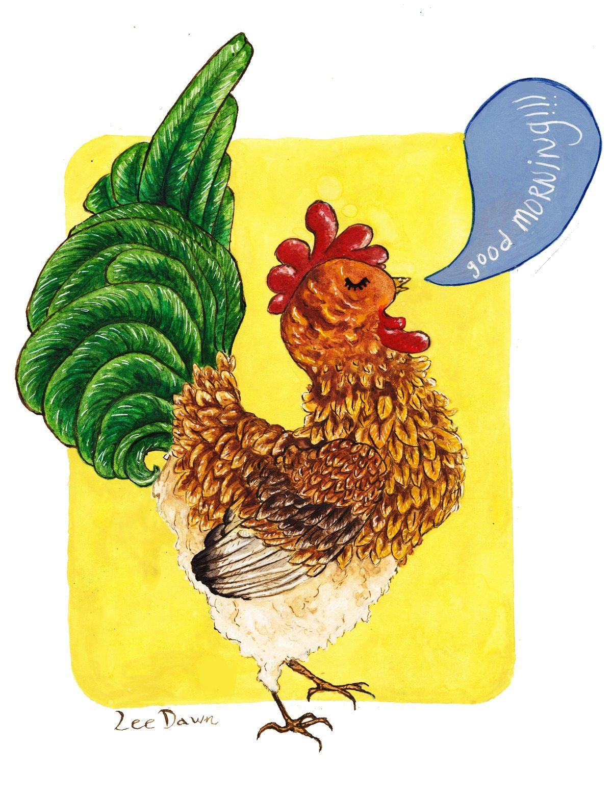Chicken Illustration by Lee Dawn
