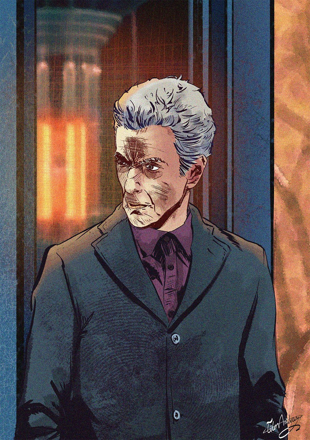Comic Illustration of Capaldi by Omniopticon