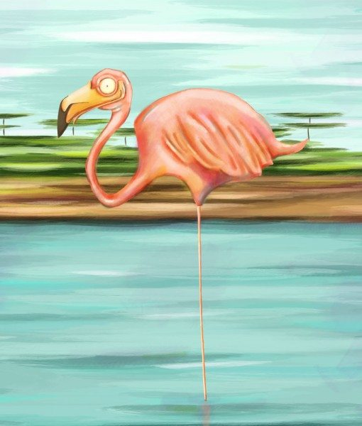 Flamingo by Silver