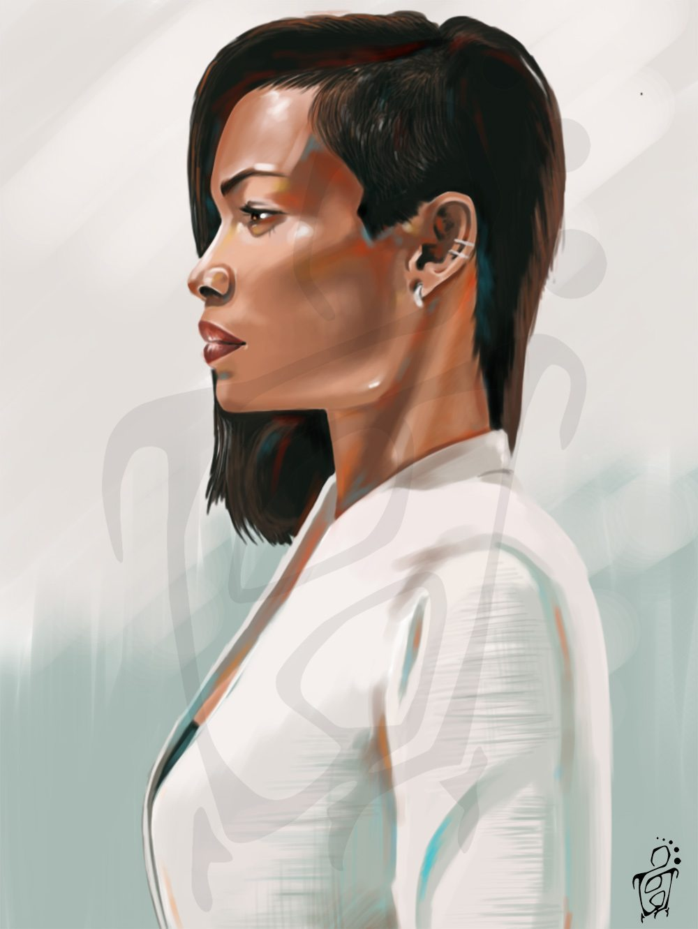 Portrait of rosario dawson by Silver