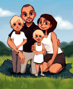 Family commission by Mourphine
