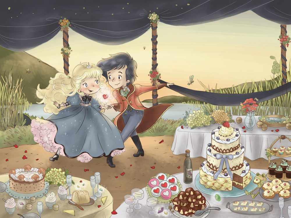 Fantasy Wedding Scene by Mika Madden