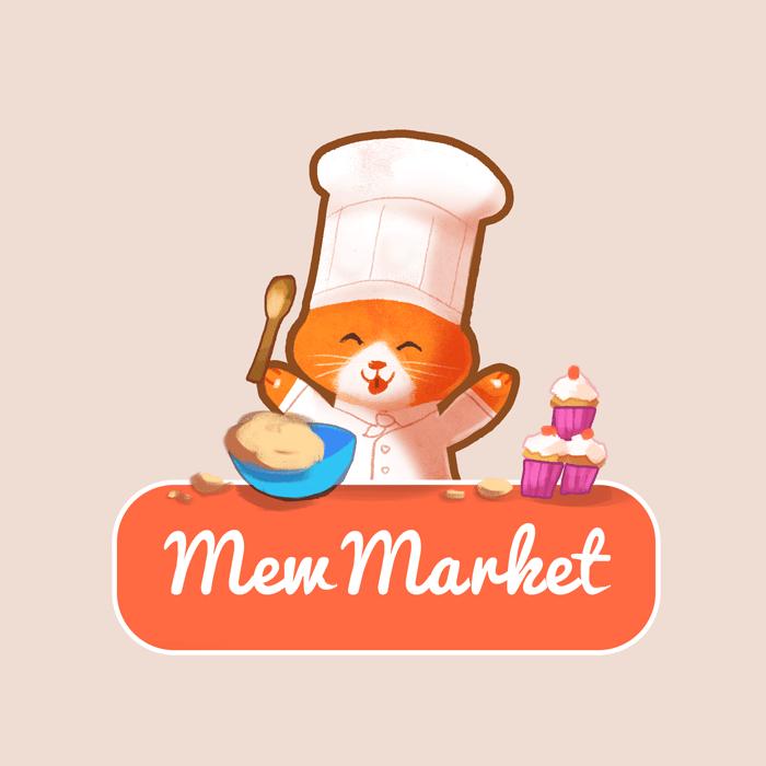Mew Market Logo by Louie Zong