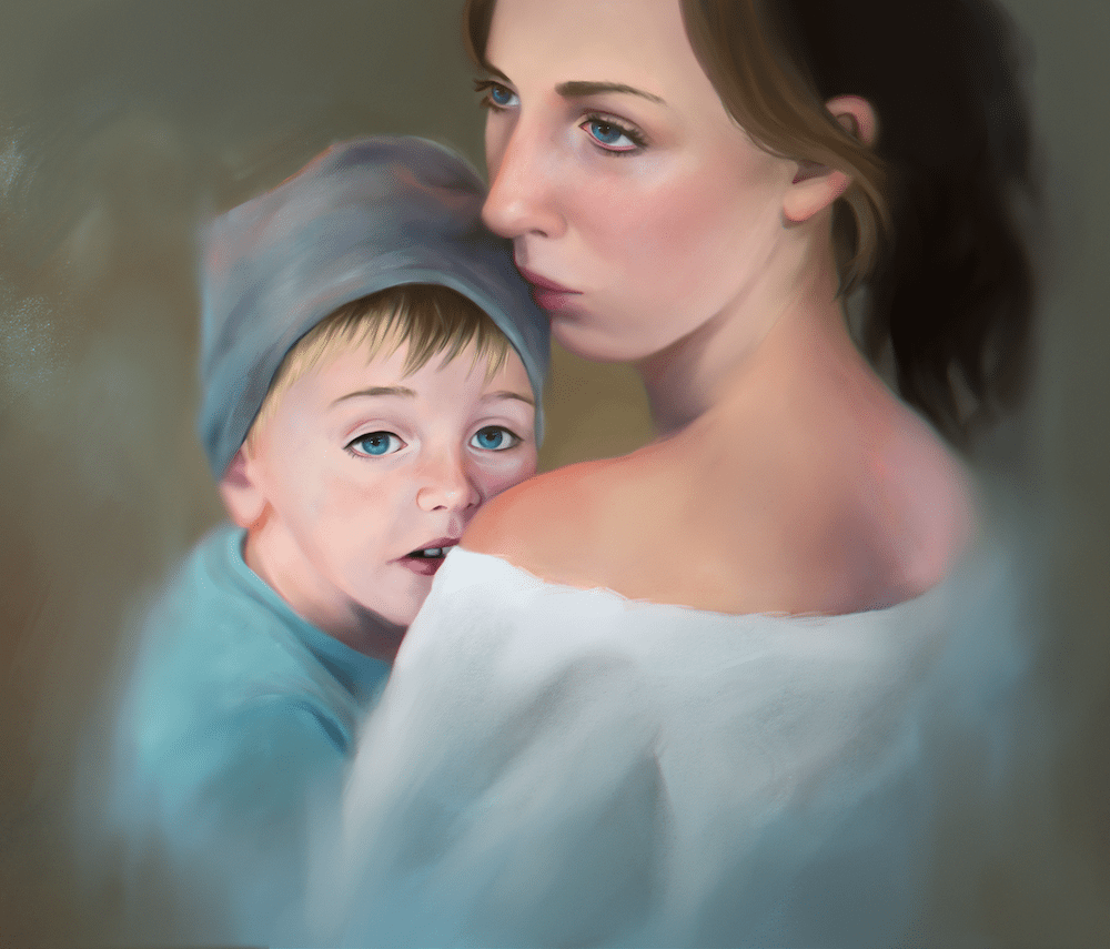 Portrait of a Mother and Child by Gabrielle Ragusi