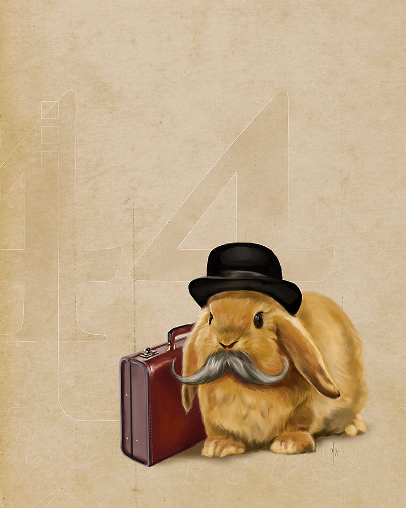 Rabbit Portrait by by Studio Catawampus