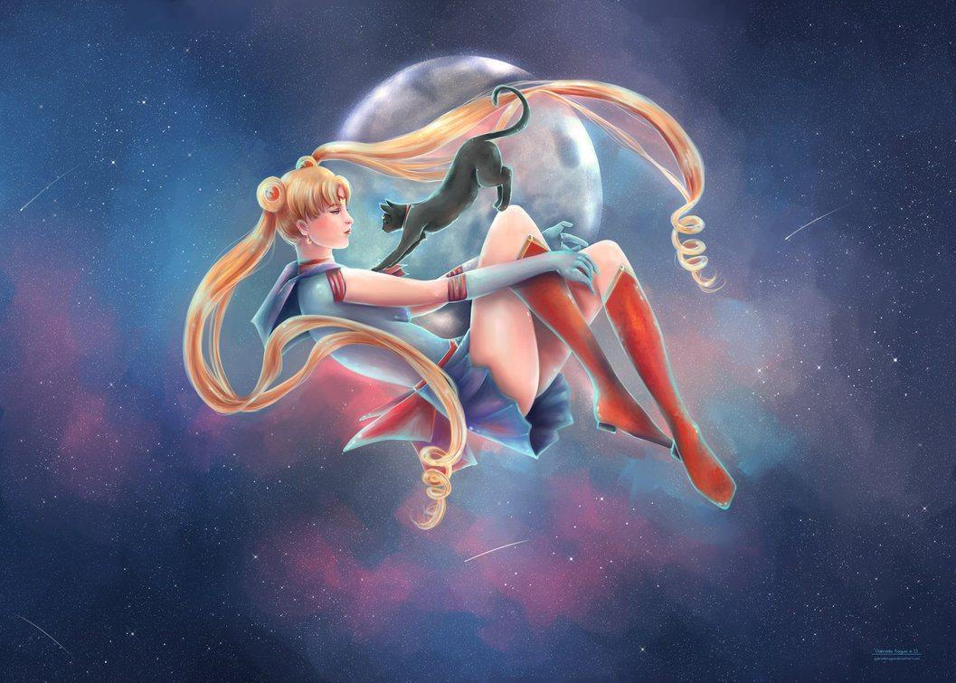 Usagi and Luna by Gabrielle Ragusi