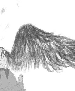 Winged Character Sketch by Blacksmiley