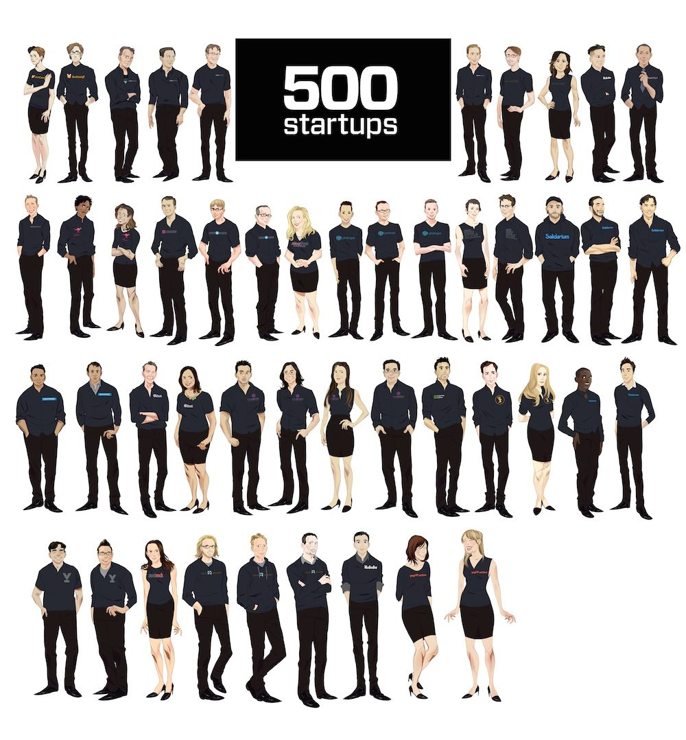 500 Startups Group Portrait by railgunner