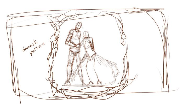 Andrew Bosworth Wedding Sketch by Kura-Ou