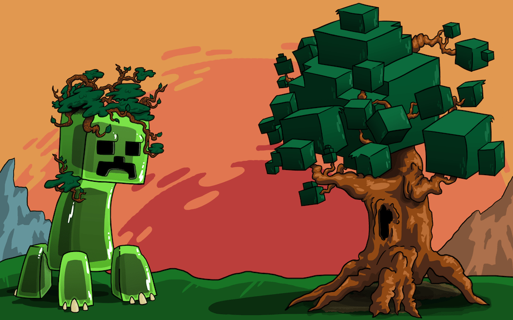 Colored Minecraft Lets Play Commission by Peacetortle