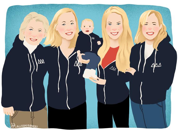 Family Portrait by Allison Ranieri Illustration