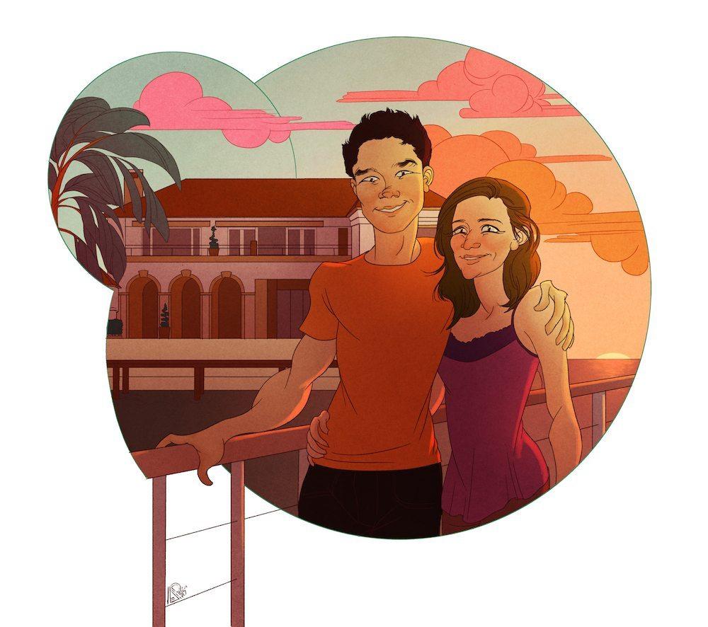 Couples Portrait by Asher Dumonchelle