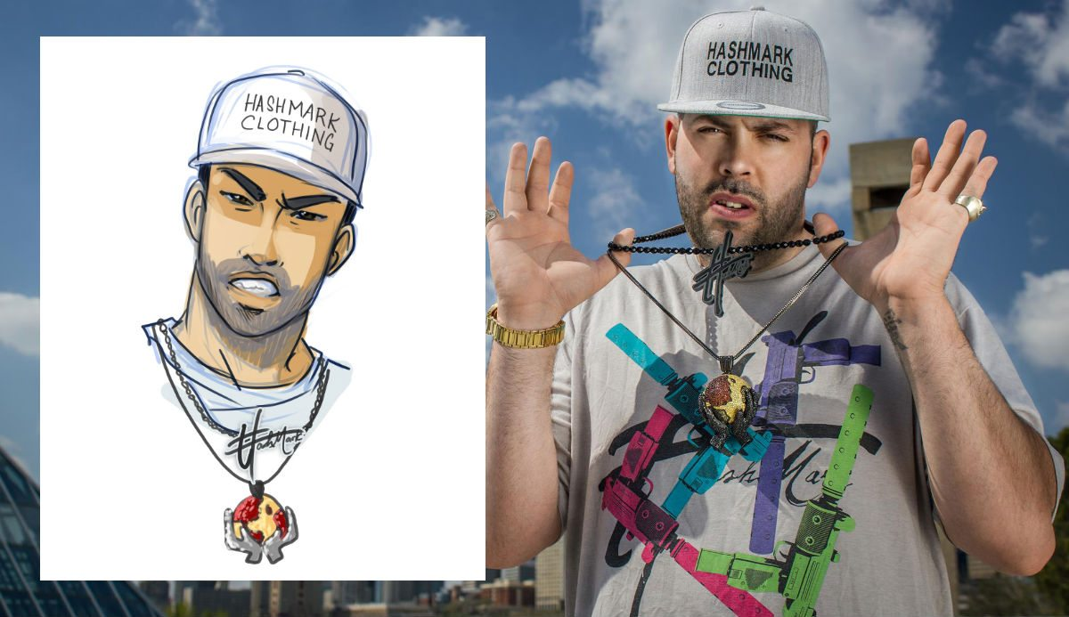 Justin Portrait Before and After by Joseph Lee