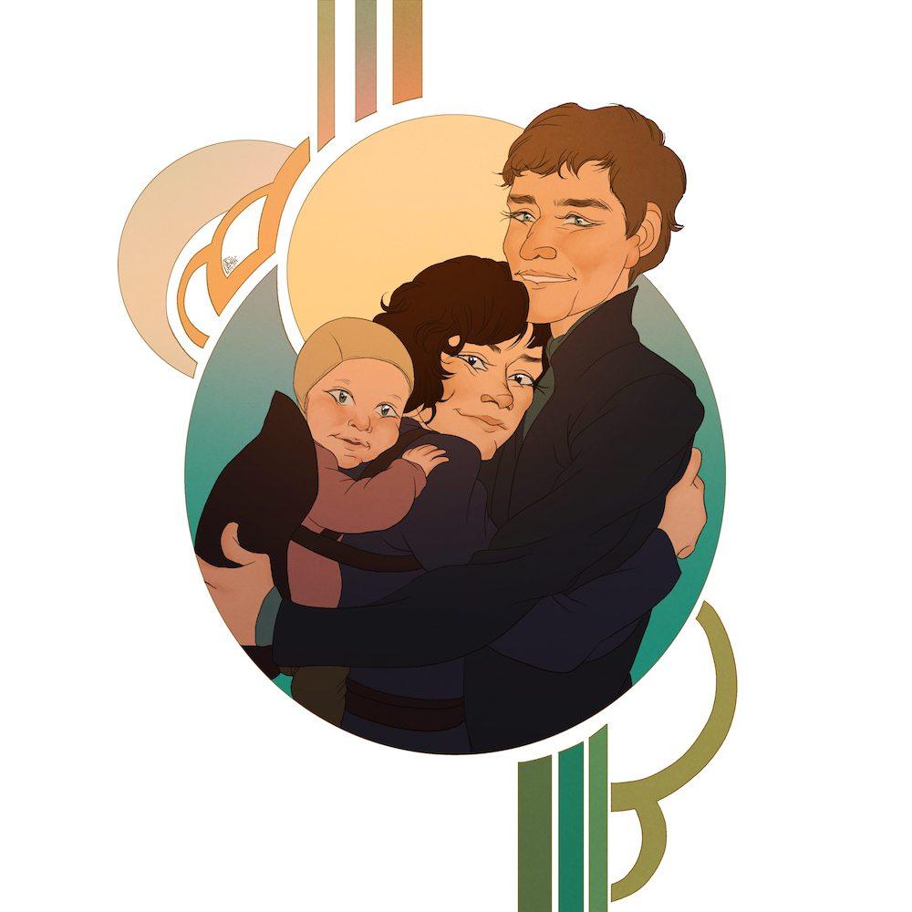 Kira Family Portrait by Dumonchelle Draws