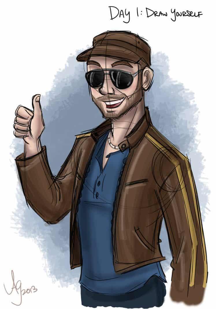 Self Portrait by Drew Graham