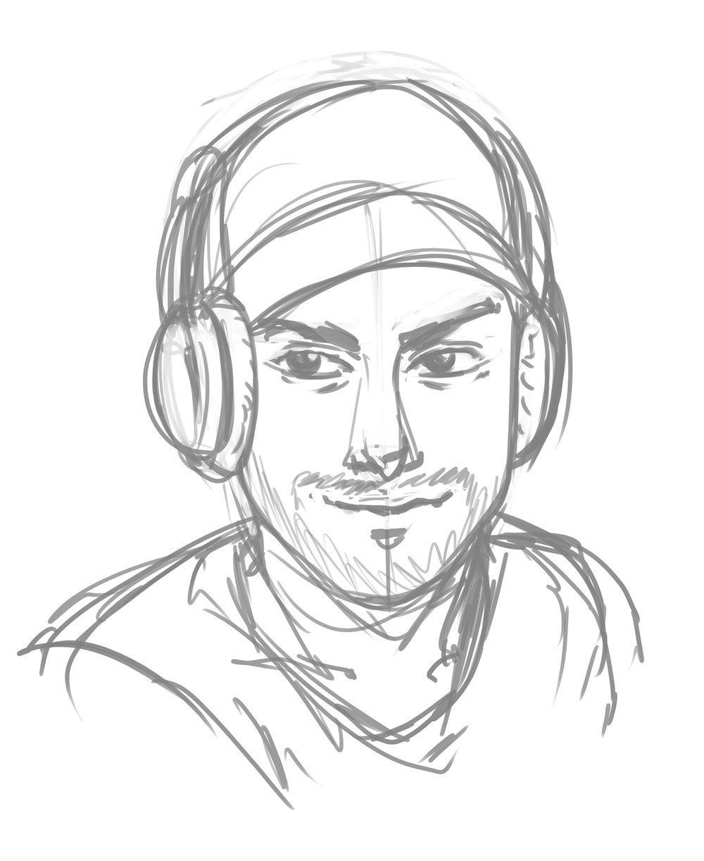 Sketch of Sean by Joseph Lee