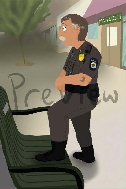WIP Portrait of A Policeman by Zanny