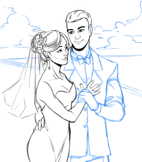 WIP of Fabio and His Wife by Torri