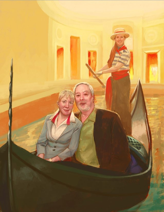 40th Anniversary Couples Portrait by Nell Fallcard