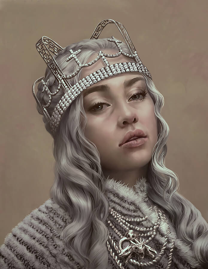 ArtCorgi - Realistic Illustrations by Nell Fallcard - Daenerys Targaryen from Game of Thrones