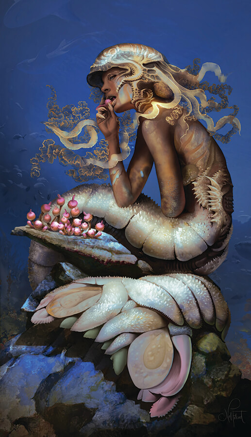 ArtCorgi - Realistic Illustrations by Nell Fallcard - mermaid creature