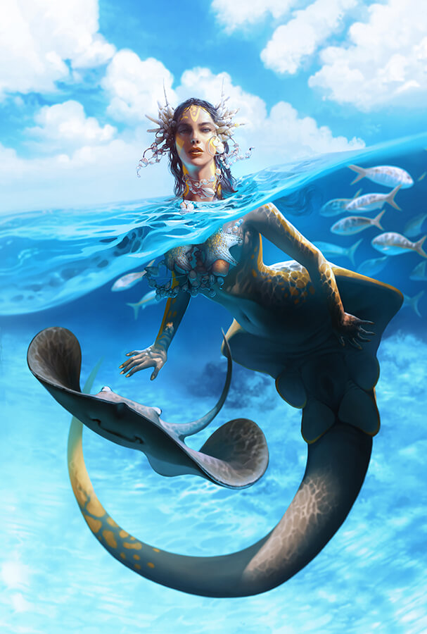ArtCorgi - Realistic Illustrations by Nell Fallcard - mermaid
