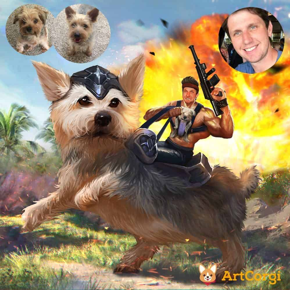 Epic Dog Portrait by Bloodyman88 on ArtCorgi