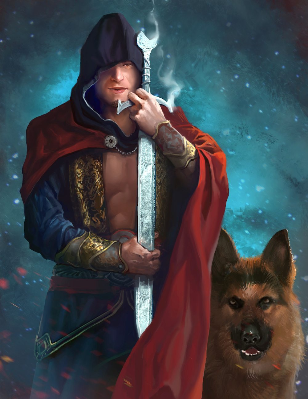 An Assassin S Creed Inspired Portrait Artcorgi Commission Art