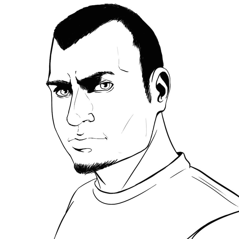 Comic Style Portrait of Andy by Blacksmiley