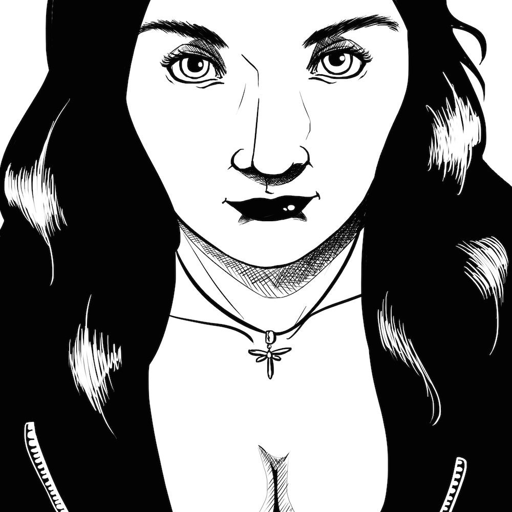 Comic Style Portrait of Ashlee by Blacksmiley