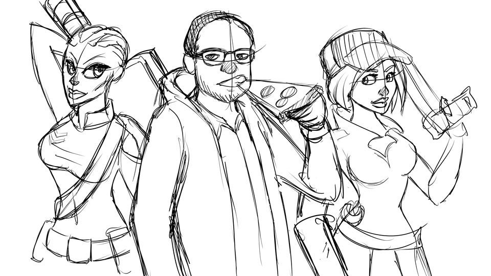 Frank and his WildStar Characters WIP by Windmyll