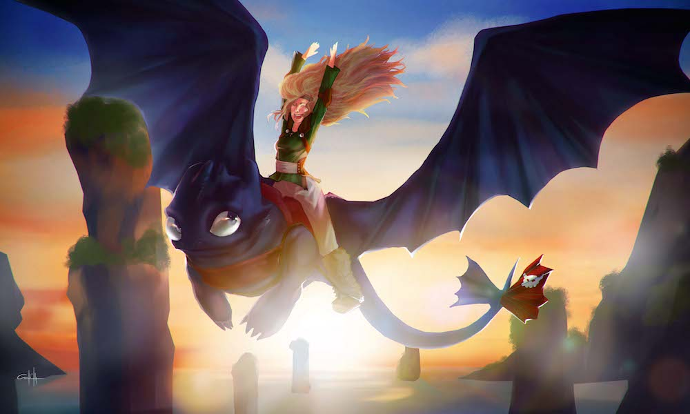 Jacinta Riding Her Dragon by Absinthe
