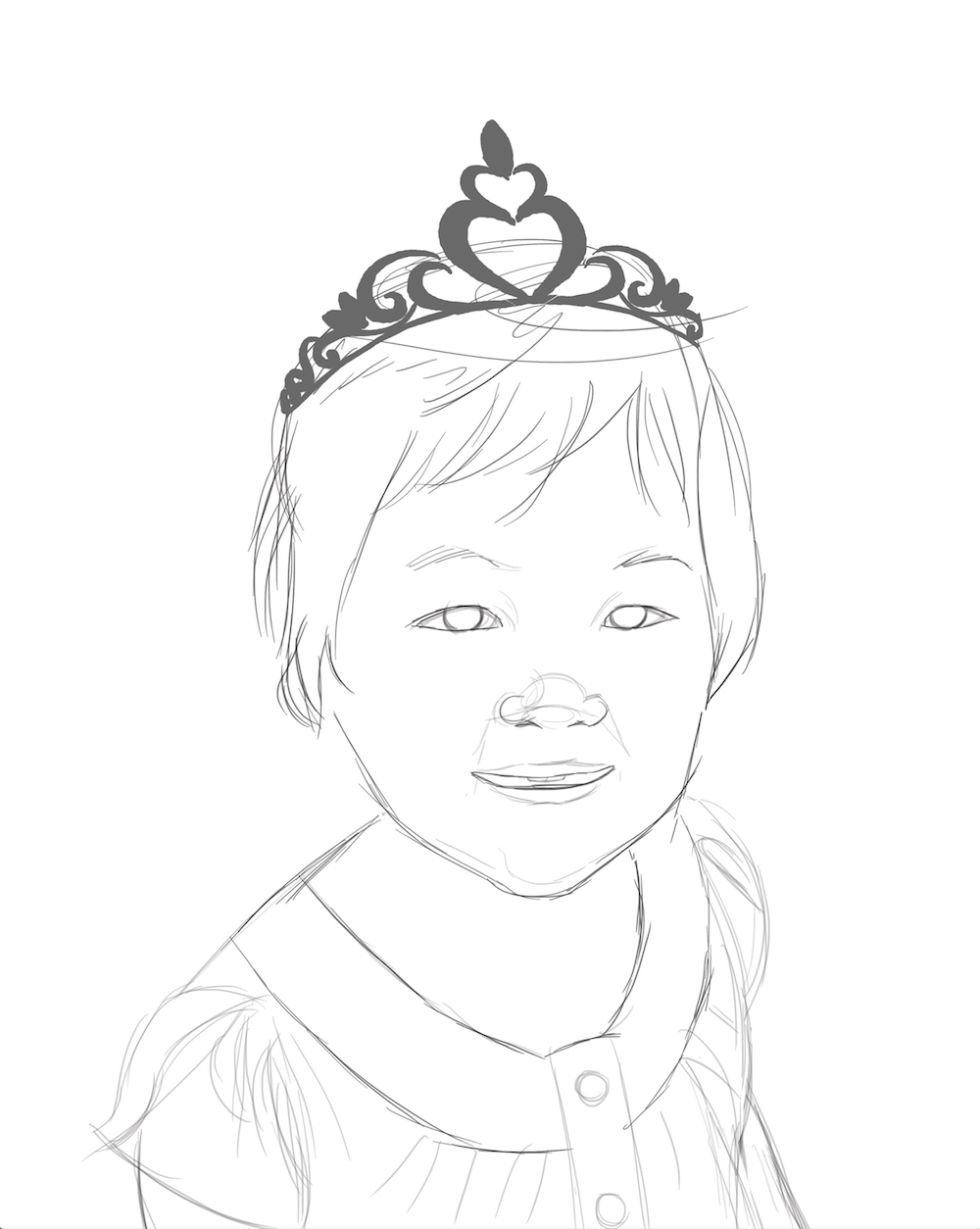WIP of Princess Huong by Stephanie Campbell