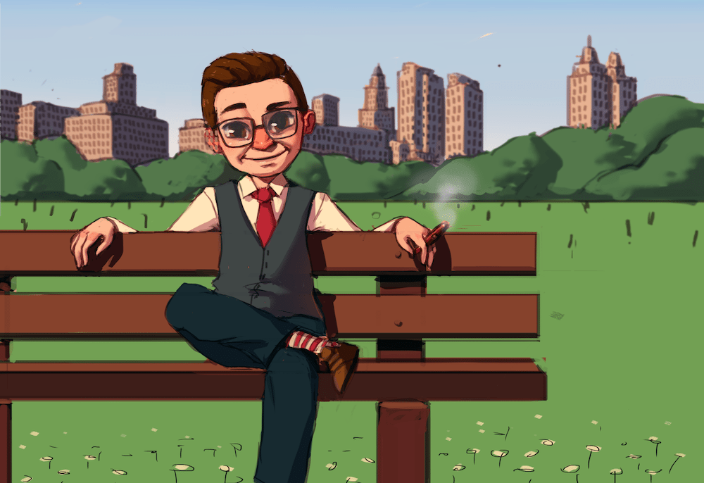 Marcel in Central Park by Mourphine